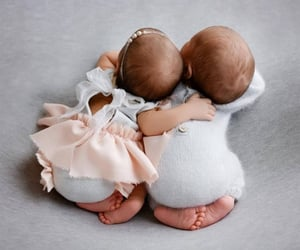 adorable, babys, and twins image