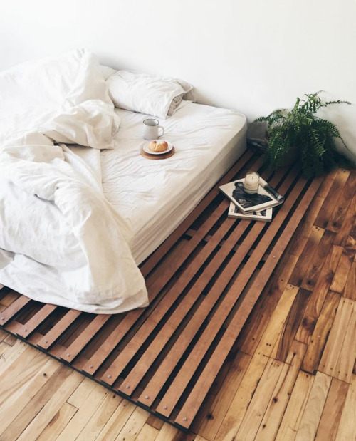 bed, decor, and design image
