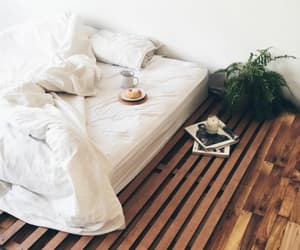 bed, interior, and decor image