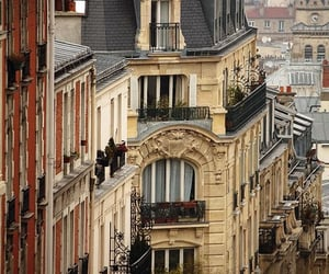 paris, building, and france image