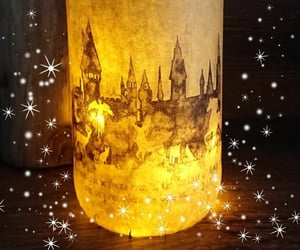 candle, diy, and harry potter image