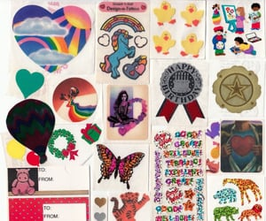 stickers, archive, and colorful image
