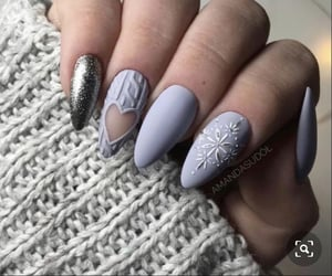 matte, nails, and snowflake image