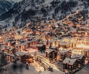 winter, snow, and switzerland image