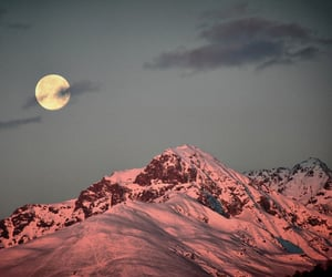 moon, mountain, and landscape image