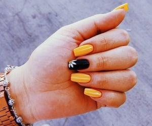 nails, yellow, and black image