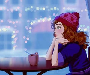 girl, winter, and alone image