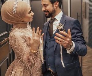 couple, halel, and hijab image