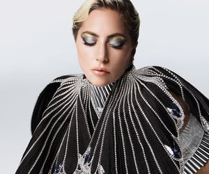 Elle, gold, and Lady gaga image