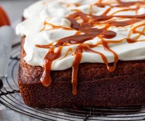 cake, caramel, and pumpkin image