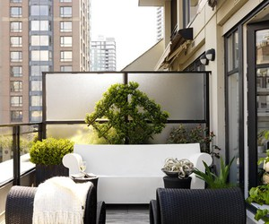 condo, outdoor spaces, and black windows image