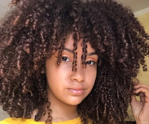curly girl, curly hair, and afro hair image