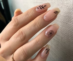 almond, flowers, and long nails image