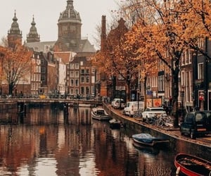 amsterdam, autumn, and boats image
