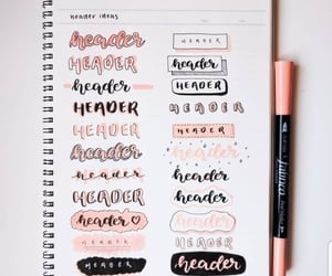 calligraphy, notes, and bullet journal image
