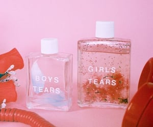 pink, tears, and aesthetic image