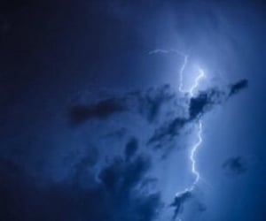 blue, storm, and night image