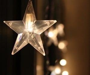 lights, stars, and christmas image