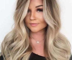 hair, blonde, and balayage image