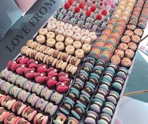 color, fashion, and macarons image