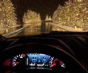 car, christmas, and light image