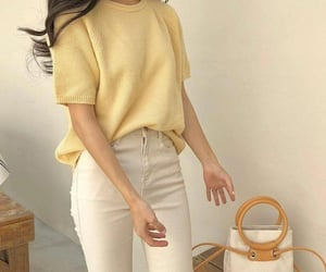 yellow, outfit, and soft image