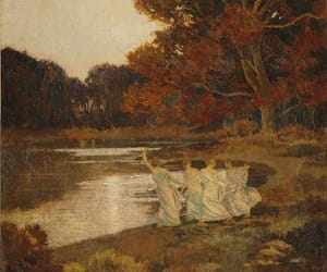 autumn, ethereal, and painting image
