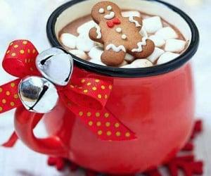 christmas, hot chocolate, and winter image