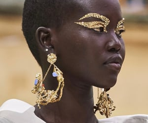 beauty, gold, and inspo image