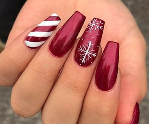 nails, christmas, and girl image