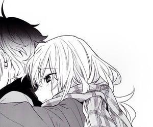 manga, couple, and anime girl image