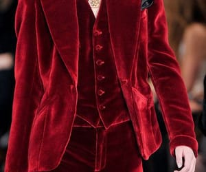 aesthetic, red, and suit image