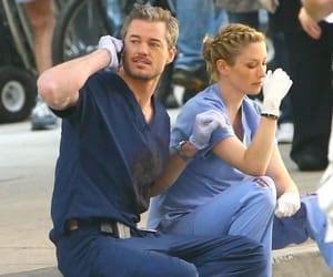 mark sloan, lexie, and grey image