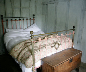 bed, vintage, and old image