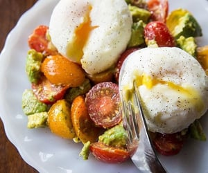 food, delicious, and eggs image