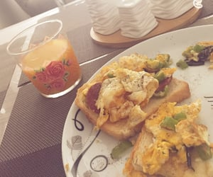 breakfast, orange, and 🍊 image