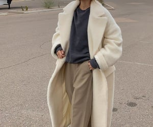 aesthetic, coat, and cozy image