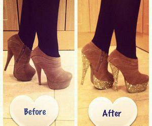 high heels, shoes, and glitter image