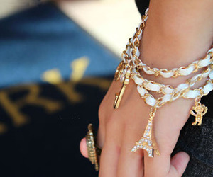 bracelet, paris, and ring image