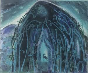 the green chapel, 4 plate colour etching, and meeting of myth image