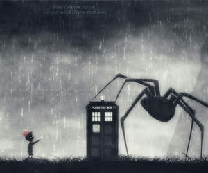 doctor who, art, and spider image
