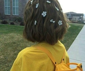 aesthetic, flowers, and back image