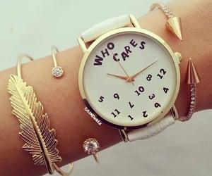 bracelets, fashion, and who cares watch image