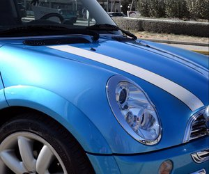 blue, car, and cooper image