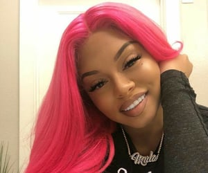hair, pink, and wig image