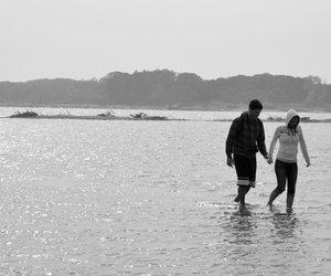 girl, sea, and love image