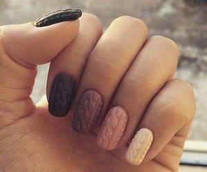 nails, nail art, and sweater image