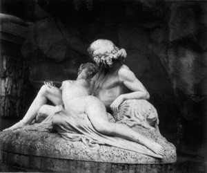 black and white, marble, and statue image