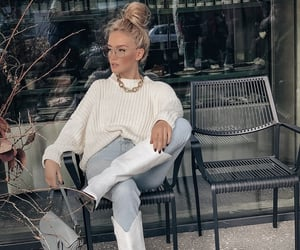 boots, girl, and street style image