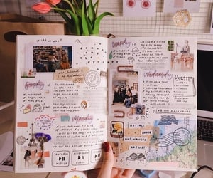journal, alternative, and flowers image